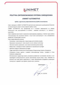 Polityka_Jakosci_Unimet_Automotive